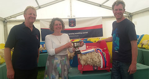 Our white Romney fleece won Champion Fleece at the Royal Cornwall Show 2018